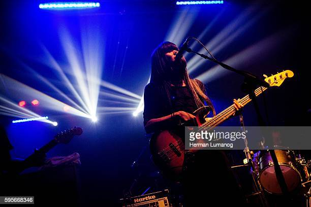 The japanese noise rock band Bo Bingen pictured on stage as she performs live at Magazzini Generali in Milan Italy