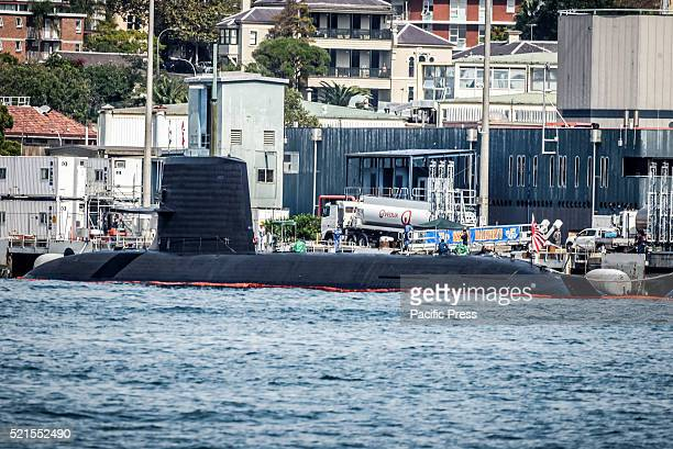 ISLAND SYDNEY NSW AUSTRALIA The Japanese Soryuclass submarine JS Hakuryu and two destroyers are training with Australian military forces and impress...