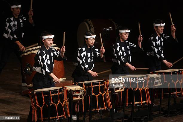 The Japanese taiko drumming troup Kodo performing at Avery Fisher Hall on Sunday night March 20 2011The concert is part of JapanNYC FestivalThis...