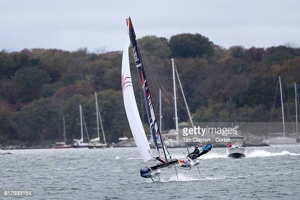 The Japanese team of Issei Fujiki and Shinichiro Yano in action during the Red Bull Foiling Generation World Final 2016 on October 22 2016 in...