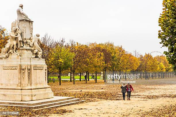 The Jardin (Garden) des Tuileries in autumn (fall) with the Jules Ferry Monument by G. Michel