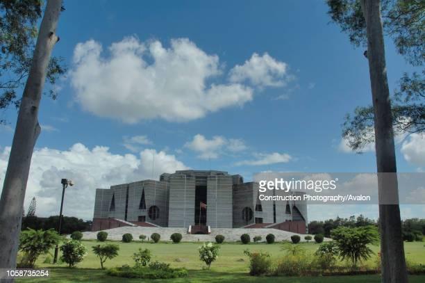 The Jatiya Sangsad Bhavan or National Parliament House of Bangladesh, at Sher-e- Bangla Nagar in Dhaka, Bangladesh, July 31, 2008. Completed in 1982,...