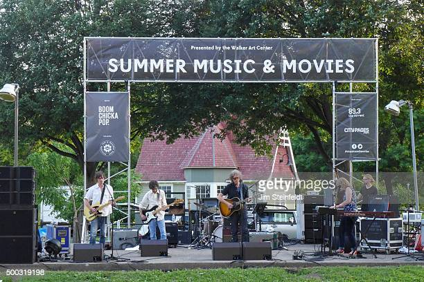 The jayhawks perform in Loring Park in Minneapolis Minnesota on July 27 2015