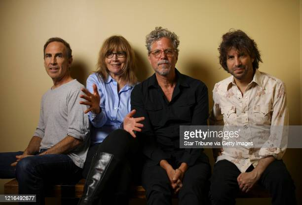 The Jayhawks photographed before going on stage last month They are from left Tim O'Reagan Karen Grotberg Gary Louris and Mark Perlman The locally...