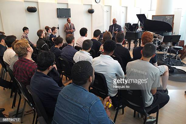 The jazz bassist Christian McBride teaching the mater class at the Juilliard School on Wednesday afternoon September 16 2015