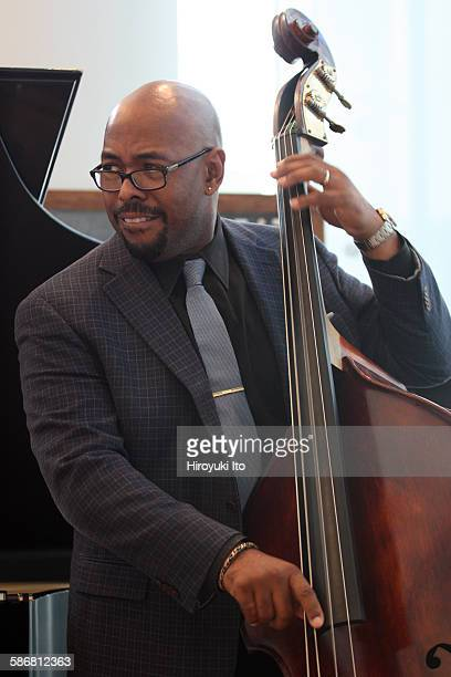 The jazz bassist Christian McBride teaching the mater class at the Juilliard School on Wednesday afternoon, September 16, 2015.