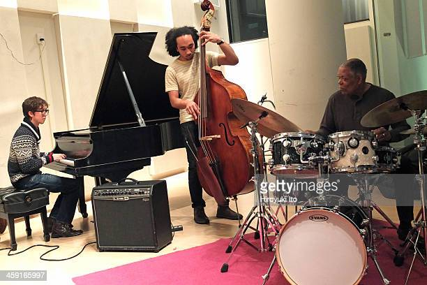 The jazz drummer Billy Hart doing master class at the Juilliard School on Friday afternoon, December 6, 2013.