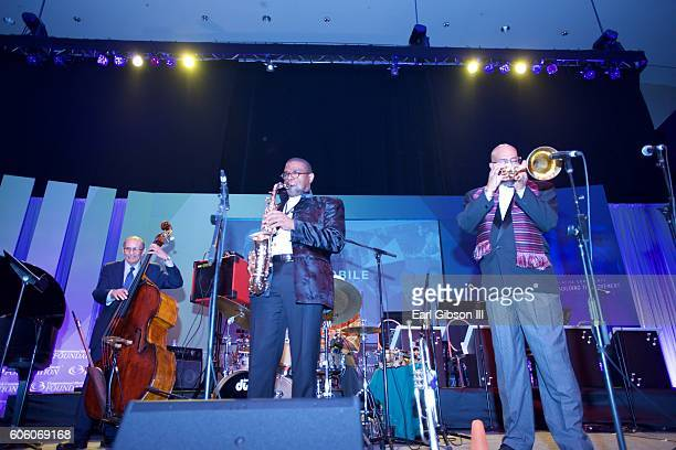 The Jazz Mobile Allstars perform at the 31st Anniversary Celebration Jazz Concert at Walter E Washington Convention Center on September 15 2016 in...