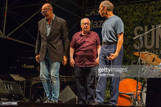 The jazz musicians Dado Moroni , Eddie Gomez and Joe La Barbera performed live at the Casa del Jazz in Rome with the project: Kind of Bill opening...