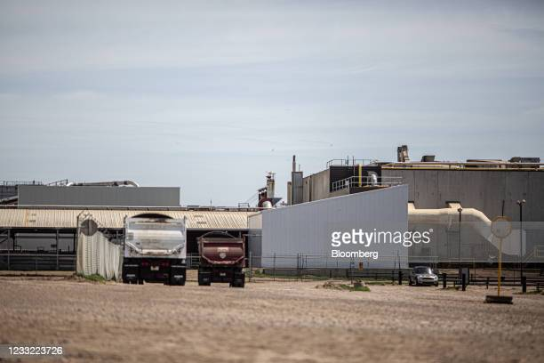 The JBS beef plant in Brooks, Alberta, Canada, on Tuesday, June 1, 2021. A cyberattack on JBS SA, the world's largest meat producer, has forced the...