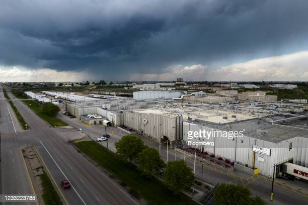 The JBS Beef Production Facility in Greeley, Colorado, U.S., on Tuesday, June 1, 2021. A cyberattack on JBS SA, the world's largest meat producer,...