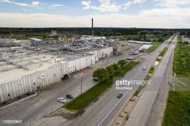 The JBS Beef Production Facility, left, in Greeley, Colorado, U.S., on Tuesday, June 1, 2021. A cyberattack on JBS SA, the world's largest meat...