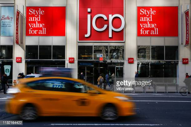 The JC Penney's headquarter on February 25, 2019 in New York City. J.C. Penney is expected to deliver a decline in earnings on lower revenues for the...
