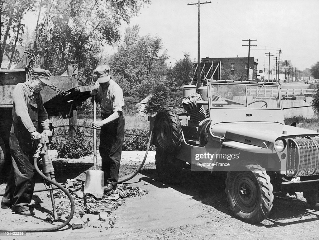 The Jeep Willys Has Been Constructed For Works In The Usa In 1945. : News Photo