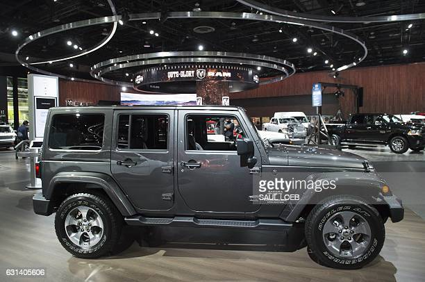 The Jeep Wrangler is seen on display during the 2017 North American International Auto Show in Detroit Michigan January 10 2017 / AFP / SAUL LOEB
