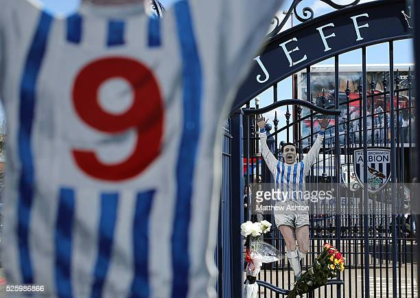 The Jeff Astle Gates on Jeff Astle Day celebrating the former WBA legend who made his debut against Leicester City