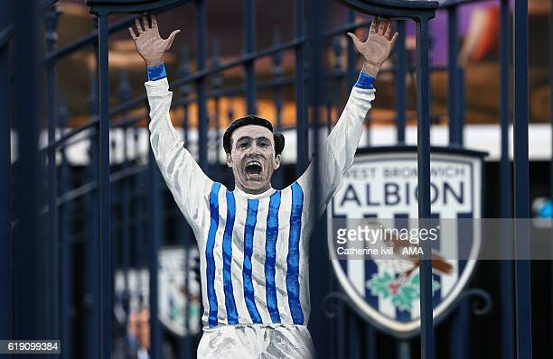 The Jeff Astle memorial gates before the Premier League match between West Bromwich Albion and Manchester City at The Hawthorns on October 29 2016 in...