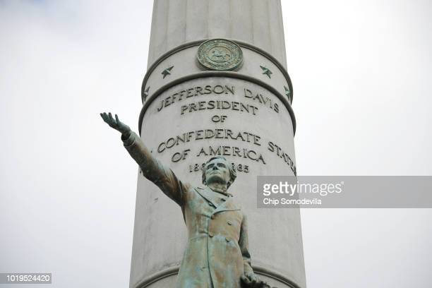 The Jefferson Davis Monument before a planned rally by Confederate heritage groups including CSA II The New Confederate States of America and the...
