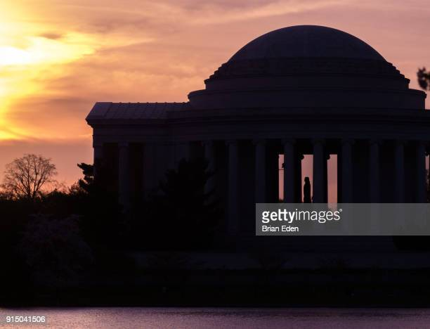 The Jefferson Memorial is seen at sunrise in Washington, D.C.