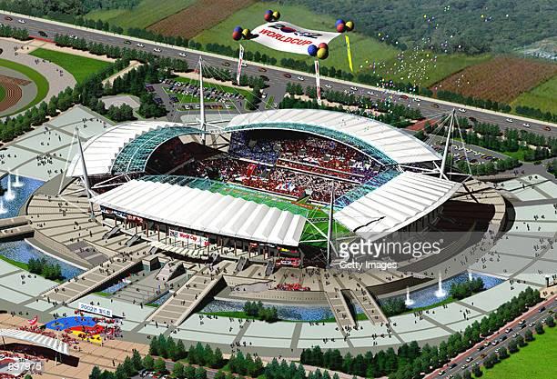 The Jeonju 2002 Federation Internationale de Football Association World Cup stadium is shown February 5 2002 230 km south of Seoul South Korea South...