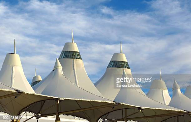 CONTENT] The Jeppesen Terminal of the Denver International Airport features peaks which resemble snowcapped peaks of the Colorado Rocky Mountains