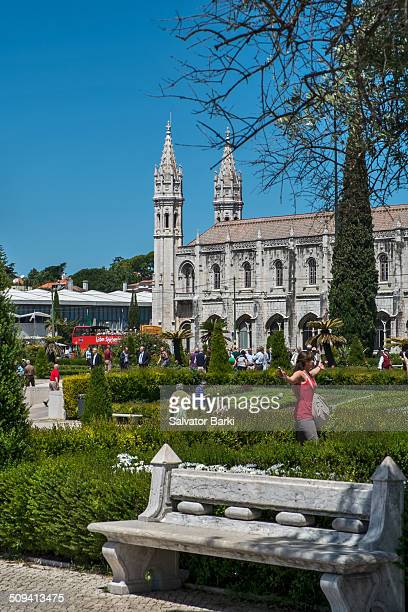 The Jerónimos Monastery or Hieronymites Monastery, Mosteiro dos Jerónimos, is located near the shore of the parish of Belém, in the Lisbon...