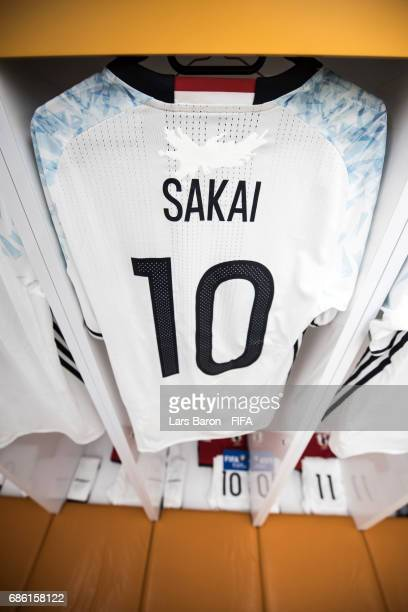 The jersey of Daisuke Sakai of Japan is seen in the dressing room prior to the FIFA U20 World Cup Korea Republic 2017 group D match between South...