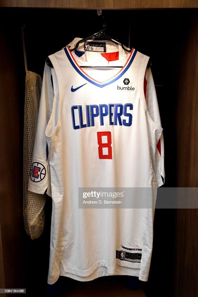 more photos 39b1c ce1e5 The jersey of Danilo Gallinari of the LA Clippers seen in ...