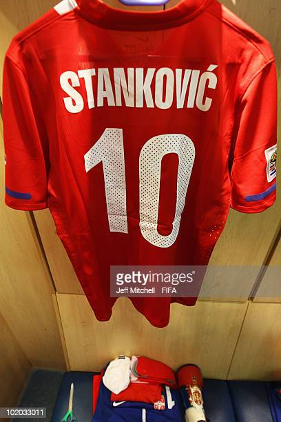 The jersey of Dejan Stankovic of Serbia prior to the 2010 FIFA World Cup South Africa Group D match between Serbia and Ghana at Loftus Versfeld...