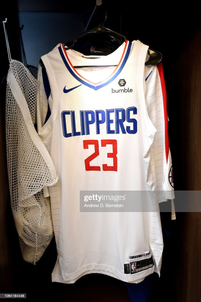 check out bcdbc 16f8f The jersey of Lou Williams of the LA Clippers seen in the ...