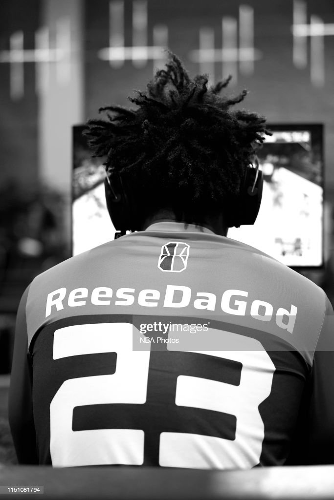 on sale 2dbcb f9c0f The jersey of ReeseDaGod of Wizards District Gaming is seen ...