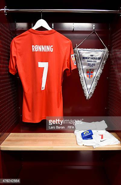 The jersey of Trine Ronning of Norway is seen in their locker room prior to the FIFA Women's World Cup 2015 Group B match between Norway and Thailand...