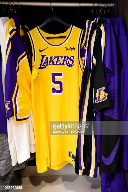 7f493e1984a the jersey of Tyson Chandler of the Los Angeles Lakers is seen in the locker  room