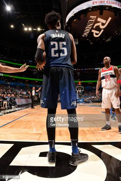 The jersey of Wesley Iwundu of the Orlando Magic as seen during the game against the Washington Wizards on February 3 2018 at Amway Center in Orlando...