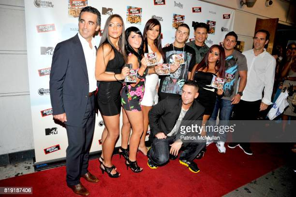 The Jersey Shore cast attends THE JERSEY SHORE Soundtrack Album Release Party at Marquee on July 13 2010 in New York City