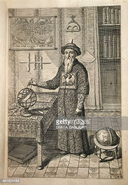 The Jesuit Johann Adam Schall von Bell predecessor of Ferdinand Verbiest astronomer at the court of the Ming Dynasty in Nanjing wearing Mandarin...