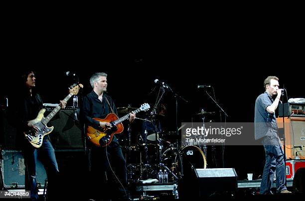 The Jesus and Mary Chain Mark Crozer Phil King Loz Colbert and Jim Reid perform as part of the Coachella Valley Music and Arts Festival at the Empire...