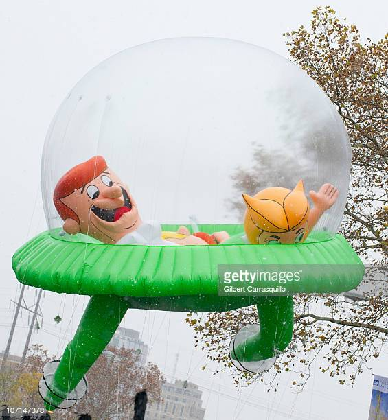 The Jetsons in a Flying Saucer Ballon at the 91st Annual 6ABC IKEA Thanksgiving Day Parade on November 25 2010 in Philadelphia Pennsylvania