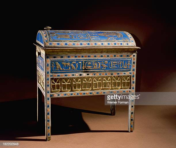 The jewel chest of Tuyu Found empty of any jewels as the tomb was robbed in antiquity the chest was originally constructed for Tuyus daughter Tiye...