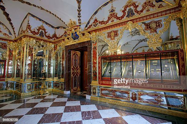 The Jewel Room is seen at the historic Green Vault in Dresden Germany Tuesday August 29 2006 Dresden's Historic Green Vault the treasure chamber of...