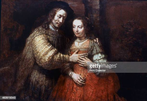 'The Jewish Bride', , 1667. Portrait of two figures from the Old Testament, known as 'The Jewish Bride'. From the collection of the Rijksmuseum,...