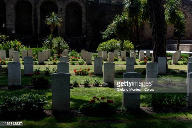 The Jewish Community of Rome commemorate of the partisans and fallen soldiers and the 'Jewish Brigade' in the 74th Liberation Day at the Commonwealth...
