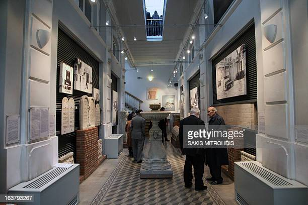 The Jewish Museum in Thessaloniki on 16 March,2013. Greece's second largest city is commemorating the 70th anniversary of the first deportation of...