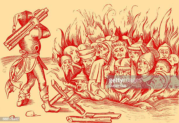 The Jews of Cologne burnt alive reproduced from a woodcut in a 1493 folio of the Liber Chronicarum Mundi The first pogrom against the Jews in Cologne...