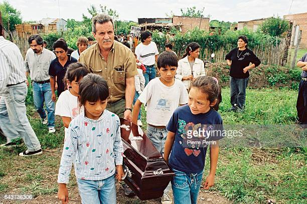 The Jimenez family and their friends live at El Chanar here after the death by bronco inhalation of little Juan Angel His death symbolizes the...