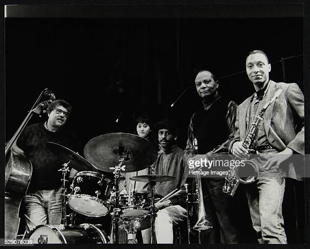 The JJ Johnson Quintet at the Hertfordshire Jazz Festival, St Albans Arena, 4 May 1993: Rufus Reid , Renee Rosnes , Billy Drummond , JJ Johnson and...