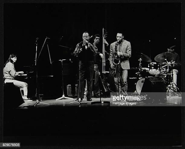 The JJ Johnson Quintet performing at the Hertfordshire Jazz Festival, St Albans Arena, 4 May 1993: Renee Rosnes , JJ Johnson , Rufus Reid , Ralph...
