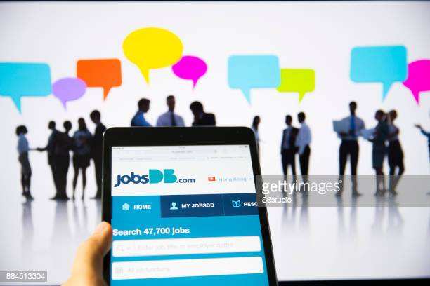 Db logo stock photos and pictures getty images the jobsdb is displayed on a apple ipad mini display one of the biggest online recruitment reheart Choice Image