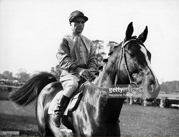 The Jockey Gordon Richards On 'Bridge Ennis' Sandown Park On October 18Th 1933