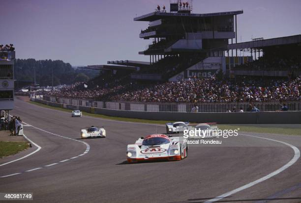 The Joest Racing Porsche 962 C driven by Manuel Reuter Frank Jelinski and John Winter during the FIA World Sportscar Championship 24 Hours of Le Mans...